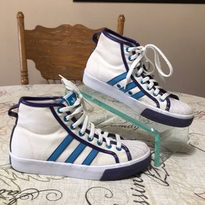 Adidas NZA 3 Stripe High Tops Size 7